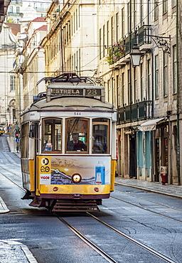 Tram number 28, Lisbon, Portugal, Europe