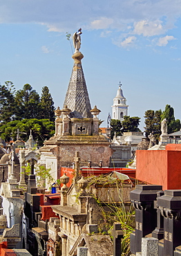 Elevated view of La Recoleta Cemetery, City of Buenos Aires, Buenos Aires Province, Argentina, South America