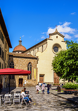 Piazza Santo Spirito, Florence, Tuscany, Italy, Europe