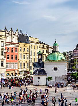 Church of St. Wojciech, elevated view, Market Square, Cracow, Lesser Poland Voivodeship, Poland