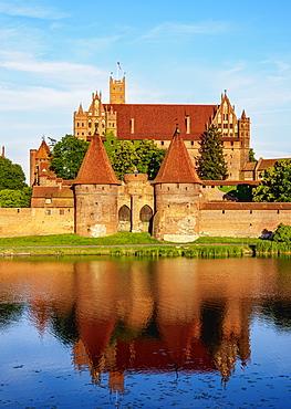 Castle of the Teutonic Order in Malbork, UNESCO World Heritage Site, Pomeranian Voivodeship, Poland, Europe