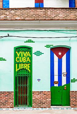 Colourful walls of Centro Habana, Havana, La Habana Province, Cuba, West Indies, Caribbean, Central America