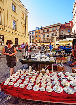 Flea Market on the Market Square, Old Town, Lublin, Lublin Voivodeship, Poland, Europe