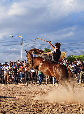 Jineteada Gaucha, traditional sport, Vallecito, San Juan Province, Argentina, South America