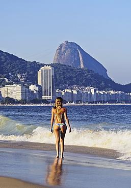 View of Copacabana Beach, Rio de Janeiro, Brazil, South America