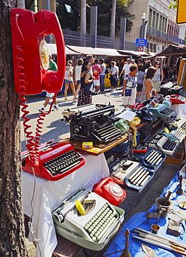 Monthly Craft and Flea Market on Rua do Lavradio, Lapa, Rio de Janeiro, Brazil, South America
