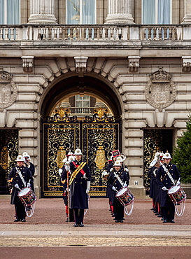 Changing of the Guard at Buckingham Palace, London, England, United Kingdom, Europe