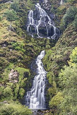 Asseranca Waterfall near Ardara, County Donegal, Ulster, Republic of Ireland, Europe