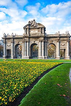 Puerta De Alcala gate in Madrid, Spain, Europe