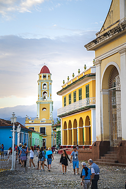 View of Bell Tower and street in Trinidad, UNESCO World Heritage Site, Sancti Spiritus, Cuba, West Indies, Caribbean, Central America