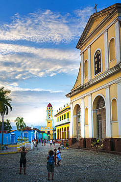 The Church of the Holy Trinity in Plaza Major in Trinidad, UNESCO World Heritage Site, Trinidad, Cuba, West Indies, Caribbean, Central America