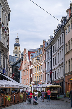 Tirgonu Street and Riga City Hall, Old Town, UNESCO World Heritage Site, Riga, Latvia, Europe