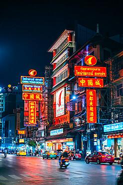 Chinatownat night, Bangkok, Thailand, Southeast Asia, Asia