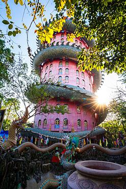 Wat Samphran Dragon Temple, Bangkok, Thailand, Southeast Asia, Asia