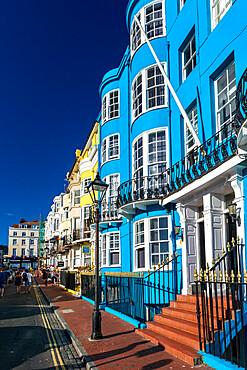 Colourful houses, Brighton, East Sussex, England, United Kingdom, Europe