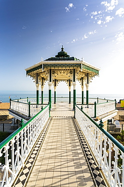 Bandstand at Brighton Beach Seafront, Brighton, East Sussex, England, United Kingdom, Europe
