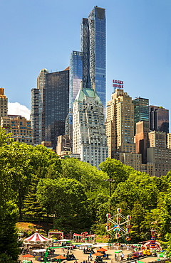 New York skyline from Central Park, New York City, Manhattan, United States of America, North America