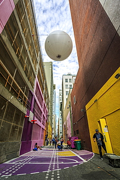 Pink Alley, Downtown, Vancouver, British Columbia, Canada, North America