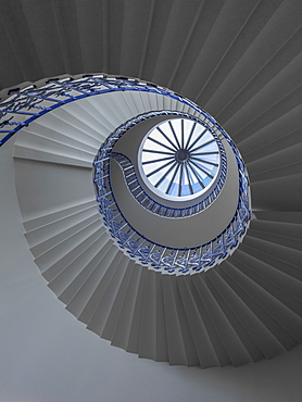 Tulip spiral staircase, Queen's House, Greenwich, London, England, United Kingdom, Europe