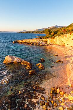 Secluded beach near Argostoli, Kefalonia, Ionian Islands, Greece, Europe
