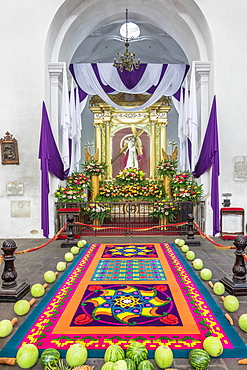 Vigil on the fifth weekend of Lent 2017 in Antigua, Guatemala, Central America