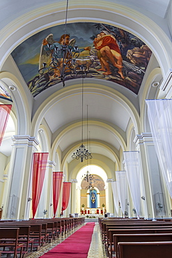 Interior of the Cathedral of Granada, Granada, Nicaragua, Central America