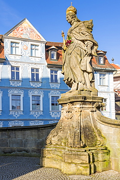 The Statue of Empress Kunigunda on the Lower Bridge, Bamberg, UNESCO World Heritage Site, Upper Franconia, Bavaria, Germany, Europe