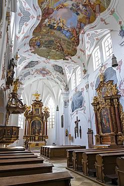 Interior of the Parish Church of St. Rupert, Regensburg, UNESCO World Heritage Site, Bavaria, Germany, Europe
