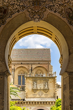 Part of the Mosque-Cathedral (Great Mosque of Cordoba) (Mezquita), UNESCO World Heritage Site, seen from an entrance gate, Cordoba, Andalusia, Spain, Europe