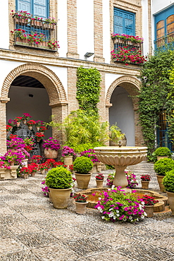 Inner courtyard of the Viana Palace, Cordoba, Andalusia, Spain, Europe