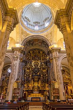 Inside El Salvador Church, Seville, Andalusia, Spain, Europe
