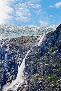 Kjenndal Glacier and surroundings, Norway, Scandinavia, Europe