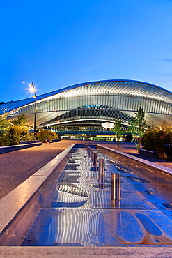 Liege-Guillemins railway station, architect Santiago Calatrava, Liege, Belgium, Europe