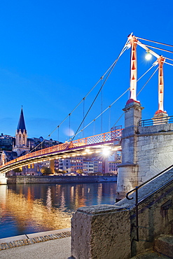 Pont San George, Lyon, Auvergne-Rhone-Alpes, France, Europe
