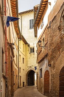 Via Cavour, Trevi, Perugia, Umbria, Italy, Europe