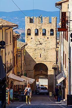 Porta Sant'Agostino, Montefalco, Perugia, Umbria, Italy, Europe