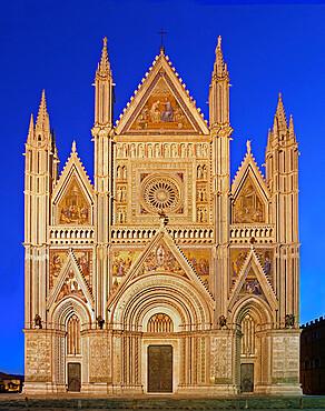 Cathedral of Santa Maria Assunta, Orvieto, Terni, Umbria, Italy, Europe