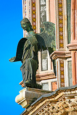 Symbol of the Matthew evangelist (angel), Cathedral of Santa Maria Assunta, Orvieto, Terni, Umbria, Italy, Europe
