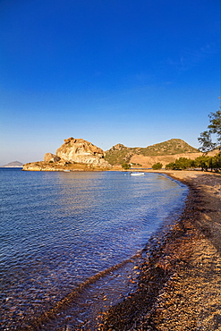 Petra Beach, Patmos, Dodecanese, Greek Islands, Greece, Europe