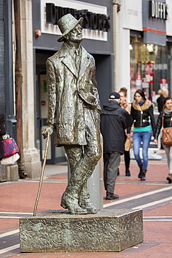 James Joyce Monument, Dublin, Republic of Ireland, Europe