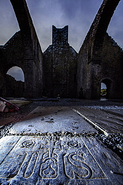 The Corcomroe Abbey, The Burren, County Clare, Munster, Republic of Ireland, Europe