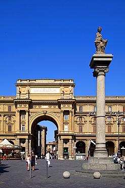 Piazza della Repubblica, Florence, Tuscany, Italy, Europe