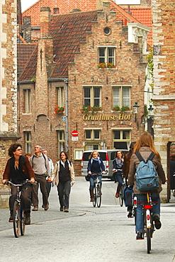 Mariastraat, Bruges, Flemish Region, West Flanders, Belgium, Europe