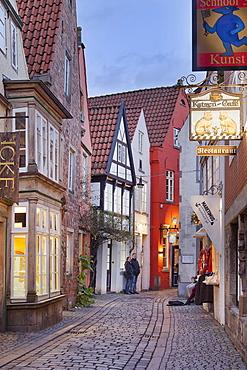 Schnoor district, Bremen, Germany, Europe