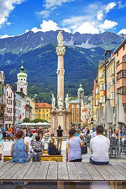 Maria Theresien Strasse, Innsbruck, Tyrol, Austria, Europe