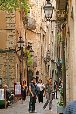 Jewish Quarter, Gerona, Catalonia, Spain, Europe