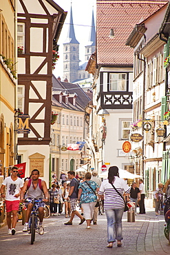 Dominikanerstrasse, Bamberg, UNESCO World Heritage Site, Bavaria, Germany, Europe
