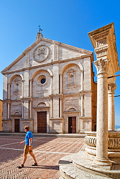 Pienza Cathedral, Pienza, UNESCO World Heritage Site, Tuscany, Italy, Europe