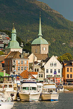 City center of Bergen, Norway, Scandinavia, Europe