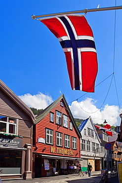 Cong Oskar Gate, Bergen, Norway, Scandinavia, Europe